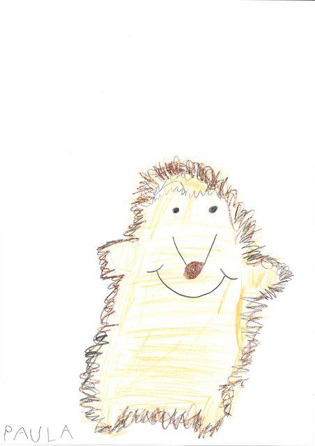 Ida unser Klassentier - gemalt von Paula